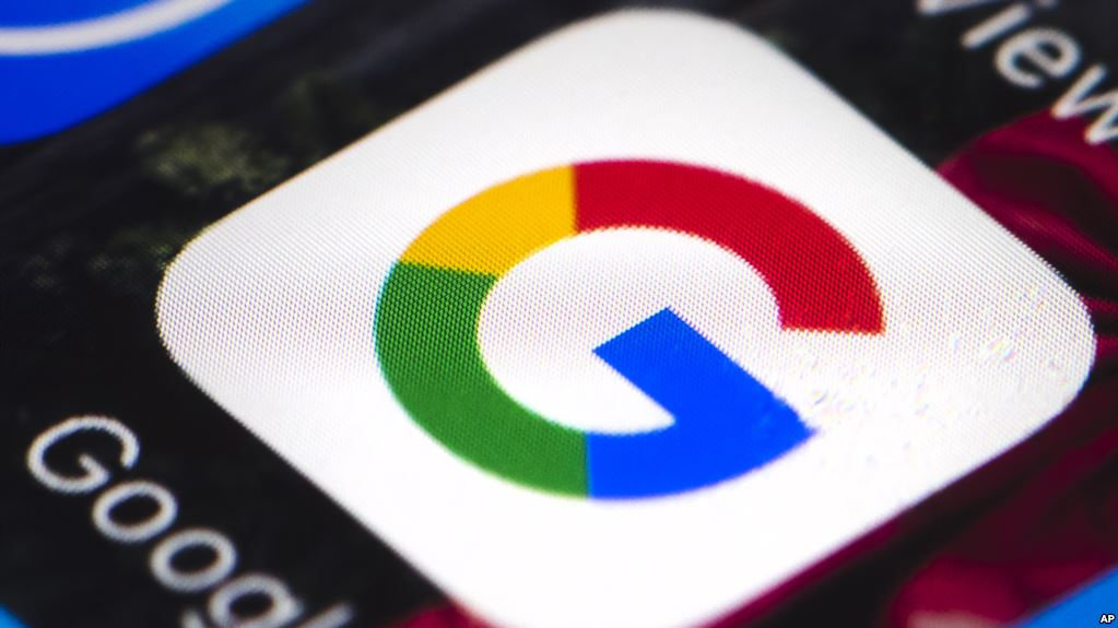 **HOLD FOR STORY S HALL** Show is a Google mobile phone icon in Philadelphia, Wednesday, April 26, 2017. (AP Photo/Matt Rourke)